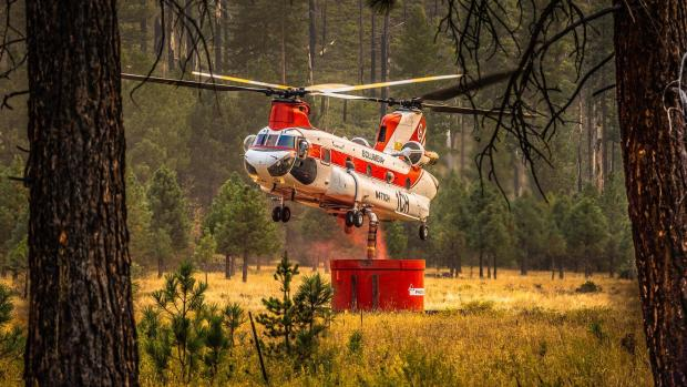 Lionshead fire chinook helicopter